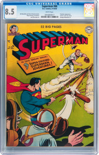 Superman #66 (DC, 1950) CGC VF+ 8.5 White pages