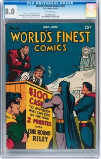 World's Finest Comics #28 (DC, 1947) CGC VF 8.0 Off-white pages