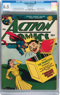 Golden Age (1938-1955):Superhero, Action Comics #57 (DC, 1943) CGC FN+ 6.5 Off-white pages....