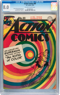 Action Comics #89 (DC, 1945) CGC VF 8.0 Off-white to white pages