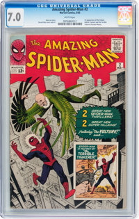 The Amazing Spider-Man #2 (Marvel, 1963) CGC FN/VF 7.0 White pages