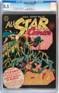 Golden Age (1938-1955):Superhero, All Star Comics #18 (DC, 1943) CGC VF+ 8.5 Off-white to white pages....