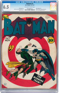 Batman #7 (DC, 1941) CGC FN+ 6.5 Off-white to white pages