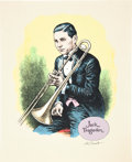 Original Comic Art:Miscellaneous, Robert Crumb Jack Teagarden Signed Serigraph Print(undated)....