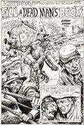 "Original Comic Art:Splash Pages, Fred Ray Our Army at War #209 ""Fill a Dead Man's Boots""Splash Page 1 Original Art (DC, 1969)...."