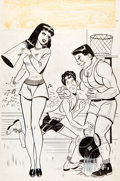 Original Comic Art:Covers, Frankie and Lana Comics Unpublished Cover Original Art(Timely, c. 1949)....