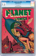 Golden Age (1938-1955):Science Fiction, Planet Comics #65 (Fiction House, 1951) CGC VF- 7.5 Off-white towhite pages....
