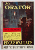 "Books:Mystery & Detective Fiction, Edgar Wallace. The Orator. Hutchinson, [n. d.]. Lateredition. ""3/6"" on spine. Offsetting. Small abrading to ffe..."
