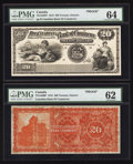 Canadian Currency: , Toronto, ON- The Canadian Bank of Commerce $20 January 8, 1907 Ch.# 75-14-42FP/BP Face/Back Proofs. ... (Total: 2 notes)