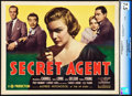 "Movie Posters:Hitchcock, Secret Agent (Gaumont, 1936). CGC Graded Title Lobby Card (11"" X14"").. ..."