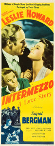 "Movie Posters:Romance, Intermezzo (United Artists, 1939). Insert (14"" X 36"").. ..."