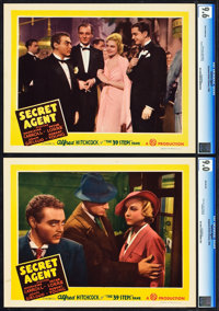 "Secret Agent (Gaumont, 1936). CGC Graded Lobby Cards (2) (11"" X 14""). ... (Total: 2 Items)"