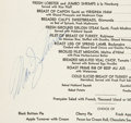 Movie/TV Memorabilia:Autographs and Signed Items, A Marilyn Monroe Signed Menu, 1953....