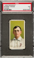 """Baseball Cards:Singles (Pre-1930), 1909-11 T206 Piedmont Sherry Magee """"MAGIE"""" Error PSA VG 3 - TheMost Famous Hobby Error! ..."""
