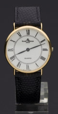 Timepieces:Wristwatch, Baume & Mercier Gent's 18k Gold Wristwatch. ...