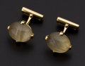 Estate Jewelry:Cufflinks, Roberto Coin 18k Gold Rutilated Quartz & Ruby Cufflinks. ...