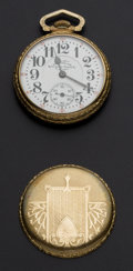 Timepieces:Pocket (post 1900), Hamilton Rare Two Tone 992 Adjusted For Railroad Service. ...