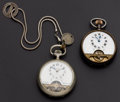 Timepieces:Pocket (post 1900), Two Swiss Hebdomas Eight Day Pocket Watches. ... (Total: 2 Items)