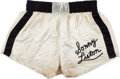 Boxing Collectibles:Memorabilia, 1964 Sonny Liston Fight Worn Trunks from the First Clay/AliBout....