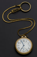 Timepieces:Pocket (post 1900), Waltham 23 Jewel Up/Down Indicator Vanguard Pocket Watch. ...