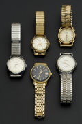 Timepieces:Wristwatch, A Lot Of Five Wristwatches. ... (Total: 5 Items)