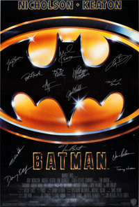 Batman Autographed Movie Poster (Warner Brothers, 1989)