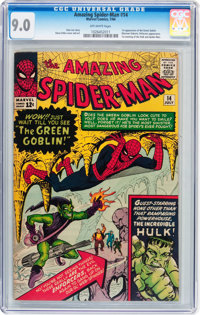 The Amazing Spider-Man #14 (Marvel, 1964) CGC VF/NM 9.0 Off-white pages