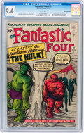 Silver Age (1956-1969):Superhero, Fantastic Four #12 White Mountain pedigree (Marvel, 1963) CGC NM 9.4 White pages....