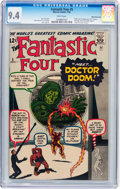 Silver Age (1956-1969):Superhero, Fantastic Four #5 White Mountain pedigree (Marvel, 1962) CGC NM 9.4 White pages....