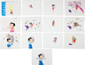 Animation Art:Production Cel, Betty Boop Animation Art Production Cel Group (undated)..... (Total: 13 Items)