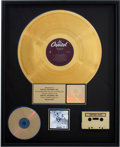 Music Memorabilia:Awards, Beatles Revolver RIAA Gold Album Award....