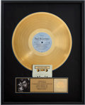 Music Memorabilia:Awards, Beatles Related - Paul McCartney Press to Play RIAA GoldAlbum Award....