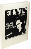 """Music Memorabilia:Recordings, Elvis Presley """"A World Of Music and Friends"""" 5 Cassette Box Set(1978). Produced and narrated by George Michael (producer fo..."""