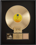 Music Memorabilia:Awards, Madonna Like a Virgin RIAA Gold Album Award....