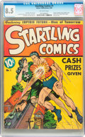 Golden Age (1938-1955):Superhero, Startling Comics #1 (Better Publications, 1940) CGC VF+ 8.5 Off-white pages....