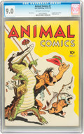 Golden Age (1938-1955):Funny Animal, Animal Comics #1 (Dell, 1942) CGC VF/NM 9.0 Off-white to whitepages....