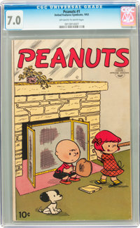 Peanuts #1 (United Features Syndicate, 1953) CGC FN/VF 7.0 Off-white to white pages