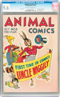 Golden Age (1938-1955):Funny Animal, Animal Comics #2 (Dell, 1943) CGC NM+ 9.6 Off-white to whitepages....