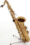 Musical Instruments:Horns & Wind Instruments, 1948 Conn Naked Lady Brass Tenor Saxophone, #326997....