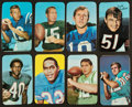 Football Cards:Sets, 1971 Topps Super Football Complete Set (35) . ...