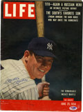 Autographs:Others, 1956 LIFE Magazine Signed By Mickey Mantle. Here we providea nice copy of an issue of LIFE magazine released durin...