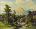 Texas:Early Texas Art - Impressionists, ROBERT WOOD (1889-1979). The Grand Tetons, Wyoming, 1930s.Oil on canvas. 25 x 30 inches (63.5 x 76.2 cm). Signed lower ...