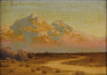 Paintings, AUDLEY DEAN NICOLS (1875-1941). Oracle Ariz-Across the San Pedro Valley. Oil on canvas. 10 x 14 inches (25.4 x 35.6 cm)...