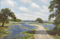 Texas:Early Texas Art - Impressionists, WILLIAM SLAUGHTER (1923-2003). Untitled BluebonnetLandscape, early 1980s. Oil on canvas. 24 x 36 inches (61.0x 91.4 cm...