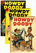 Golden Age (1938-1955):Humor, Howdy Doody File Copy Group (Dell, 1954-55) Condition: Average FN/VF.... (Total: 5 Comic Books)
