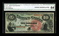 Large Size:Legal Tender Notes, Fr. 96 $10 1869 Legal Tender CGA Choice Uncirculated 64....