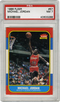 Basketball Cards:Singles (1980-Now), 1986-87 Michael Jordan #57 PSA NM 7. The coveted Jordan rookie from the 1986-87 Fleer basketball issue has become one of th...