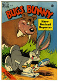 Golden Age (1938-1955):Cartoon Character, Four Color #274 Bugs Bunny, Hare-Brained Reporter (Dell, 1950)Condition: FN/VF....