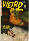 Golden Age (1938-1955):Horror, Weird Thrillers #1 (Ziff-Davis, 1951) Condition: FN-....