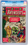 Silver Age (1956-1969):Superhero, The Avengers #1 (Marvel, 1963) CGC VF- 7.5 Cream to off-whitepages....